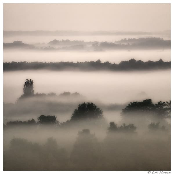 Photographie de paysage : Les brumes et brouillards matinaux en Dordogne