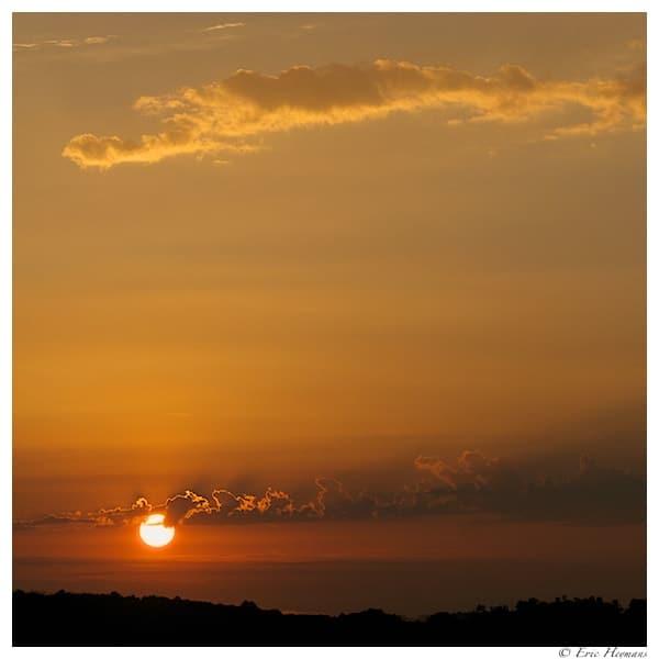 Photographie de Paysage d'un lever de soleil en Dordogne, France