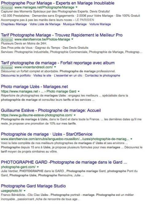 Tarifs Photographes Uzes